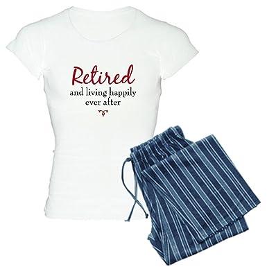 CafePress - Happy Retirement Women s Light Pajamas - Womens Novelty Cotton  Pajama Set 392e62028