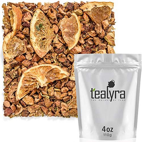 (Tealyra - Eau De Mandarine - Orange - Strawberry Leaves - Herbal Fruity Loose Leaf Tea - Hot or Iced - Caffeine Free - 112g (4-ounce))