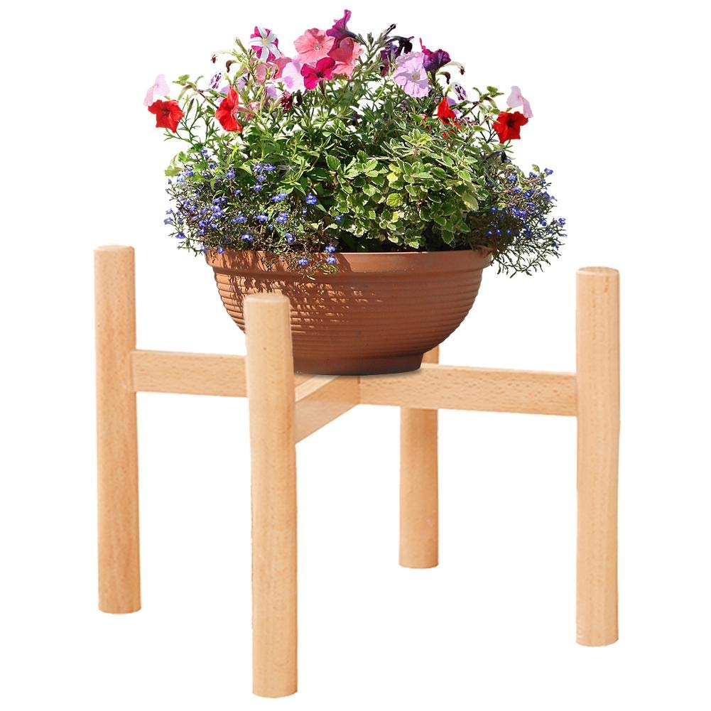 European Style Beech Flower Stand Wooden Single Floor-standing Creativity Flowerpot Display Stand Potted Plants Assembly For Indoor Outdoor 无