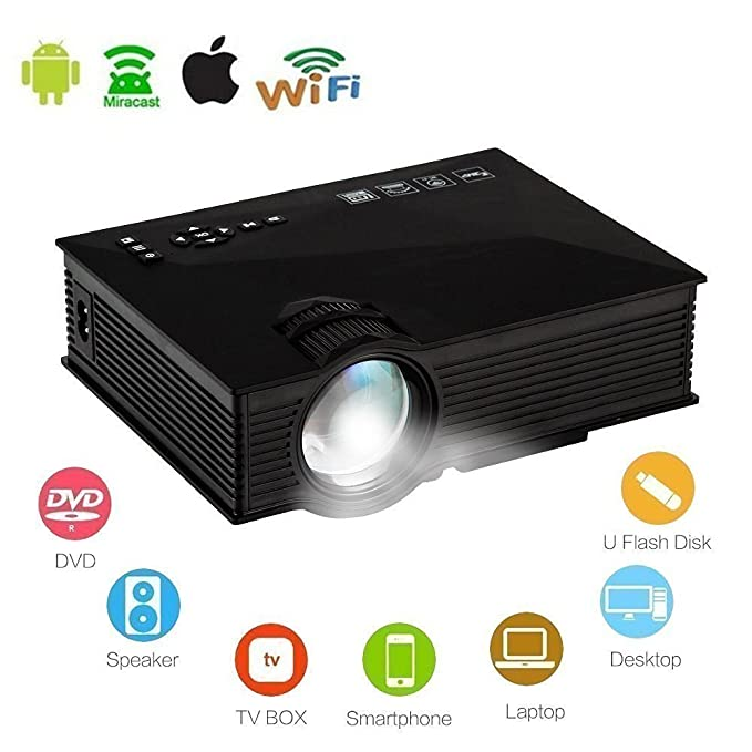 Mengshen WiFi Proyector, Mini LED Proyectores Portátil HD ...