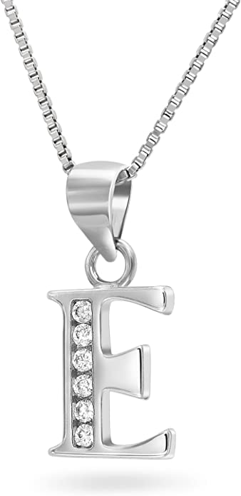 Scripted Initial Letter P Coin Charm Pendant Necklace #925 Sterling Silver #Azaggi N0428S/_P