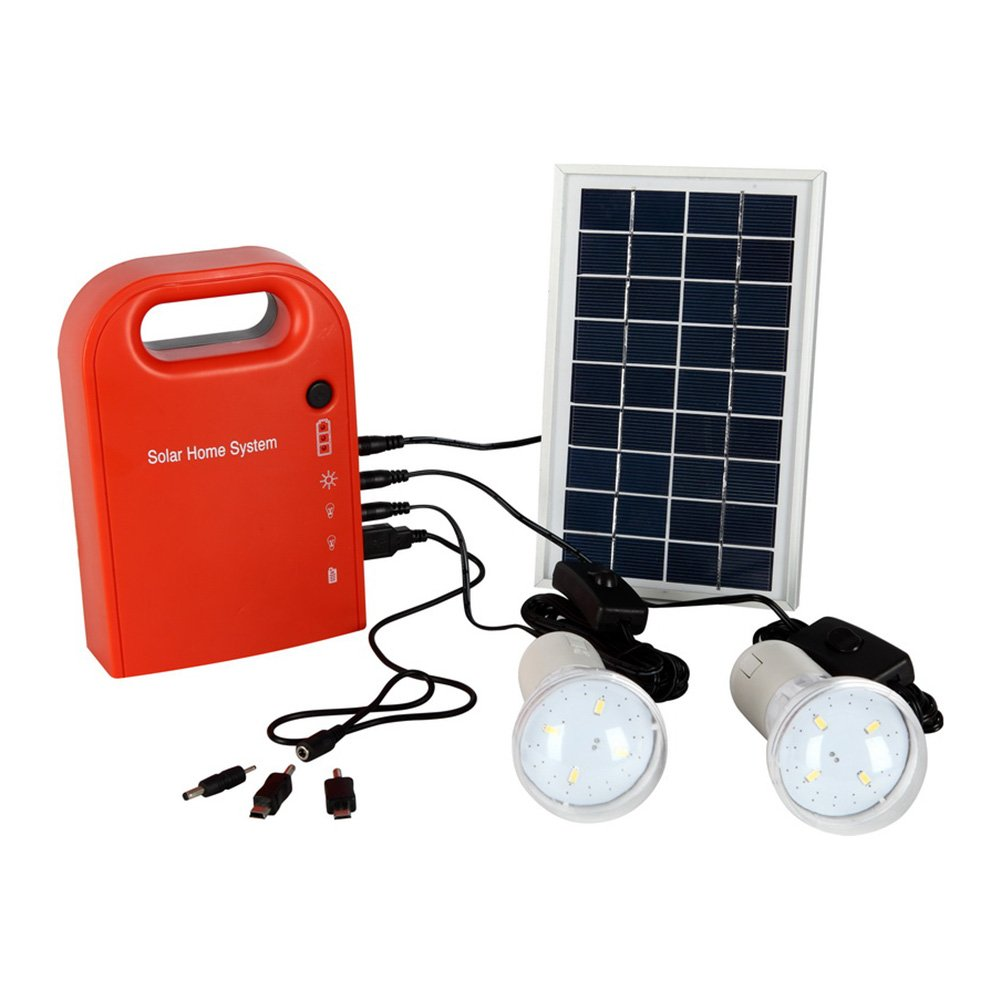 Missbee Solar Powered Home Lighting System - Solar System with bright LED lights and a USB port for Mobile Charging
