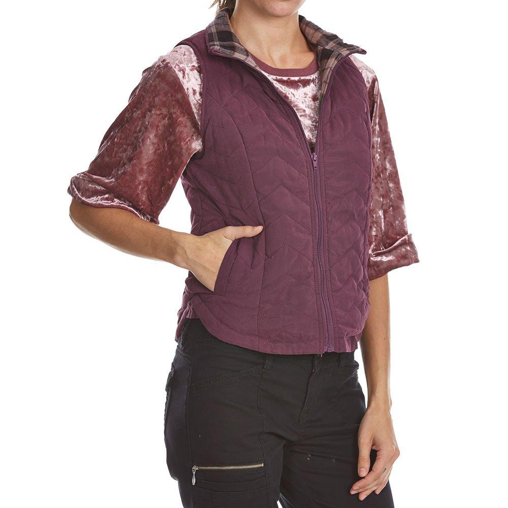 UNIONBAY Women's Joanna Quilted Vest, Aubergine, M