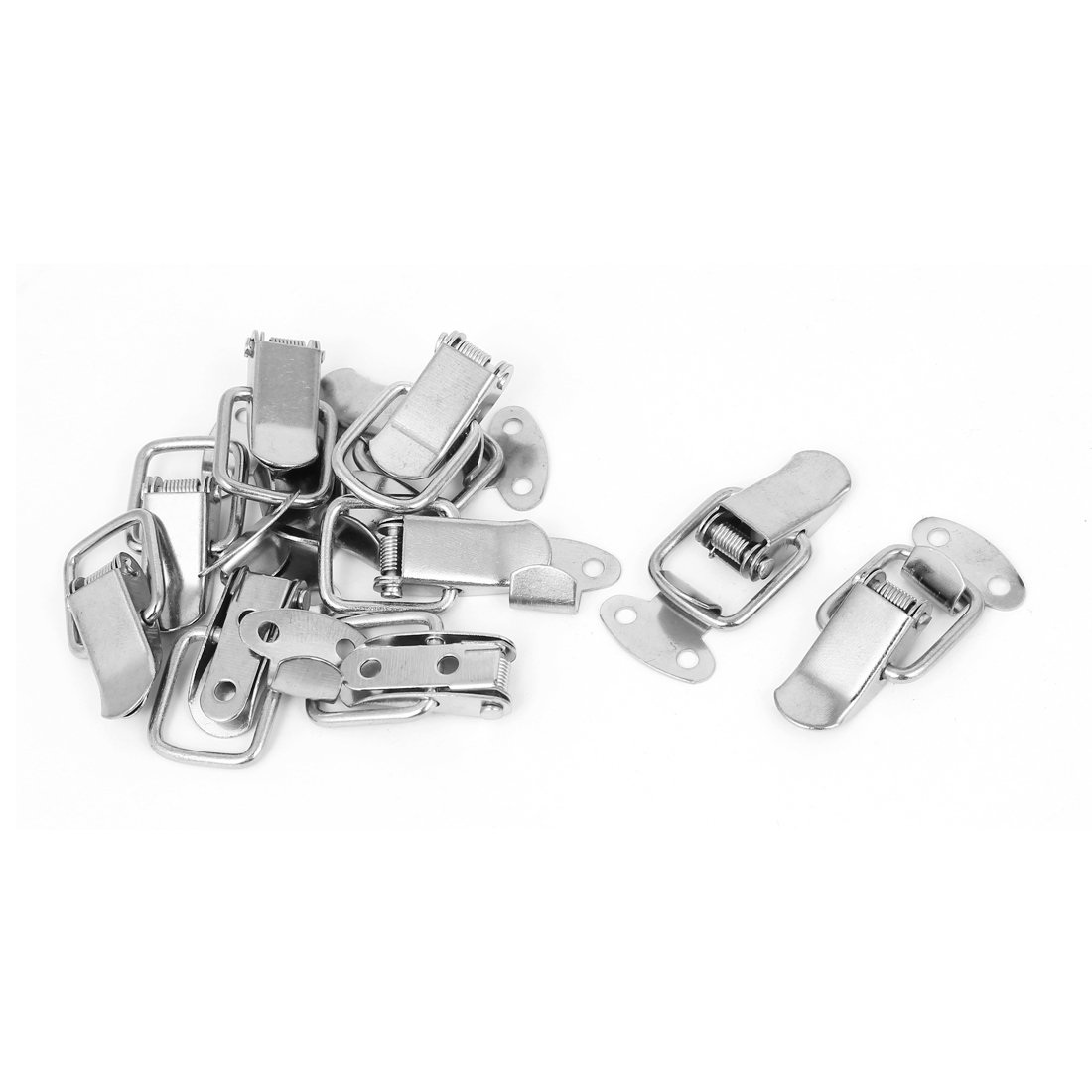 uxcell/® Toolbox Box Spring Loaded Straight Loop Toggle Catch Latch Hasp 8pcs