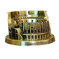 PROW® Metallo Roma Colosseo Modello Retro Bronzo Architettura Fatto a Mano Mestiere Casa Desktop Décor da Collezione Artificiale Mondo Famoso Edifici Scultura