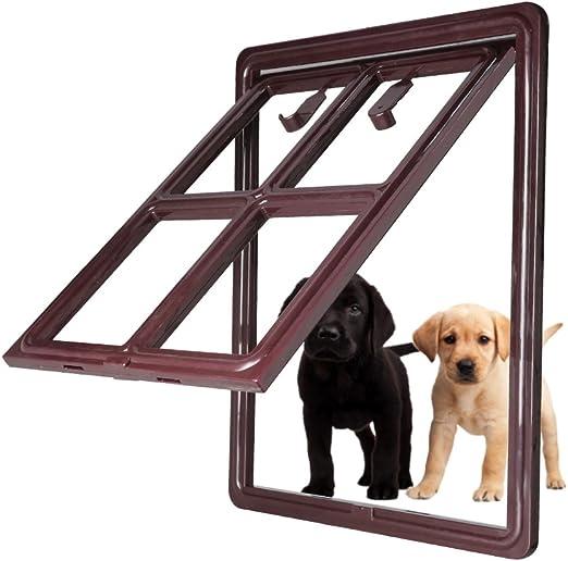 CEESC - 3.ª versión actualizada - Puerta de Perro para Puerta mosquitera corredera, Puerta con Cierre automático para Perros, Cachorros, Gatos; 3 Colores, 5 Opciones: Amazon.es: Productos para mascotas