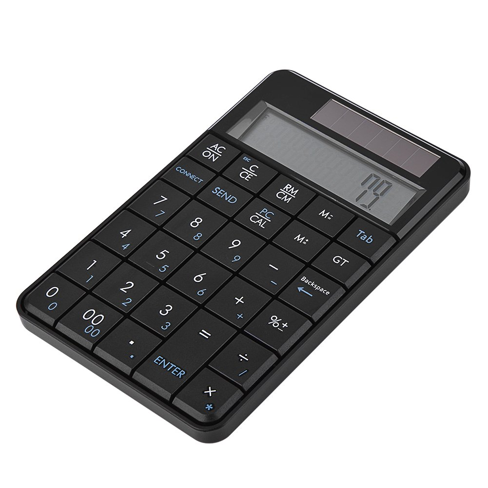 Numeric Keypad, Asixx Mini USB 2.4G Wireless Numeric Keypad 29-Key Number Pad 2-in-1 Keyboard & Calculator with LCD Display for Laptop Desktop Notebook PC