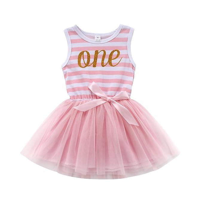 Amazon.com: biggerstore bebé niñas Tutu vestido primer ...