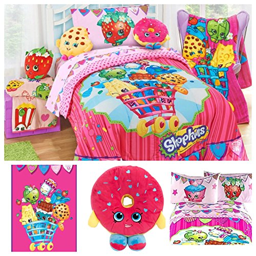 Shopkins Complete Bedding Set with Scented Pillow Buddy - Twin by Moose Shopkins