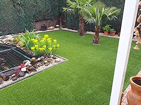 Kunstrasen Rasenteppich Palermo f/ür Garten - 2,00 m x 0,50 m 2889 g//m/² DIN 53387 UV-Garantie 12 Jahre Kunststoffrasen Florh/öhe 35 mm Rollrasen Gewicht ca