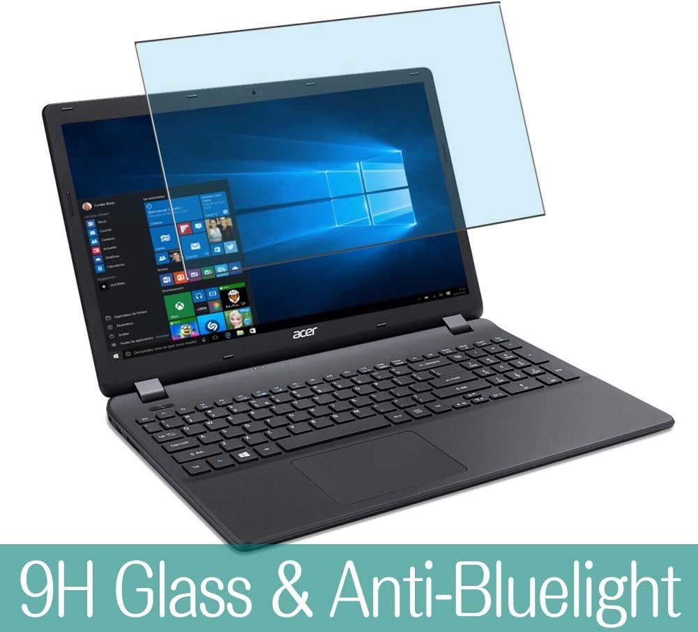 "Synvy Anti Blue Light Tempered Glass Screen Protector for Acer Aspire ES1-533 / ES1-571 / ES1-572 15.6"" Visible Area 9H Protective Screen Film Protectors (Not Full Coverage)"