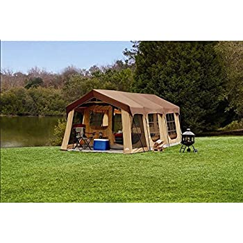 Large 10 Person Family Cabin Tent w/Front Porch Room Divider and Rear Door  sc 1 st  Amazon.com & Amazon.com : Large 10 Person Family Cabin Tent w/Front Porch Room ...