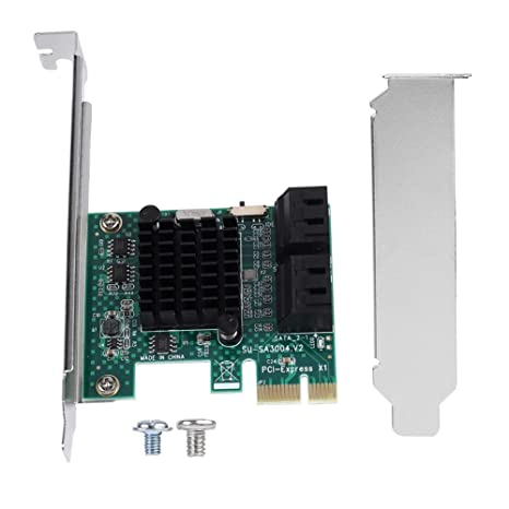 6G PCI Express to SATA 3.0 Expansion Controller Card PCIe SATA Card 4 Port