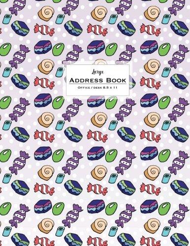 Download Large Address Book - Office/Desk 8.5 x 11: Purple Candy (Big & Trendy Address Books For Women) pdf epub