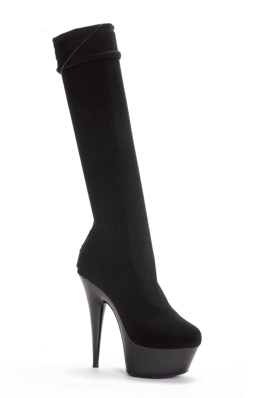 "Ellie Shoes Women's 609-LYCRA 6"" Pointed Stilitto Lycra Knee High Boot"