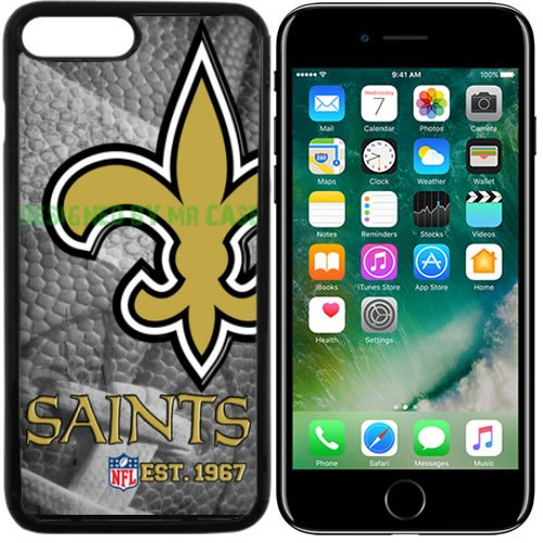 7acf22c1051 Amazon.com : Saints New Orleans Football New Black Apple iPhone 7 Case By  Mr Case : Sports & Outdoors