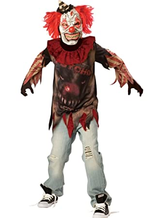Gli adolescenti Clown Festa Vestito Costume Carnevale Circo Costume Di Halloween