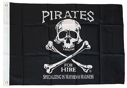 Amazon.com: Piratas para el alquiler – 3 x 5 Bandera de ...