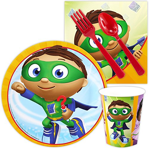 Super Why Child Costumes (Super Why Party Supplies - Snack Party Pack)