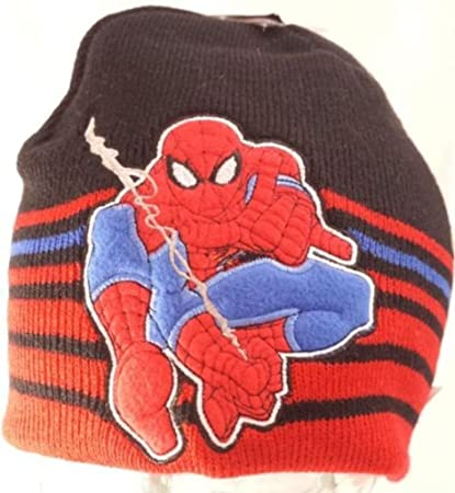 Amazon Ultimate Spider Man Beanie Boys Knit Hat Reversible