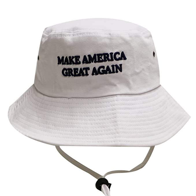 e5ee582c9af Image Unavailable. Image not available for. Color  Bd2024 Trump Make  America Great Again Bucket Hat White