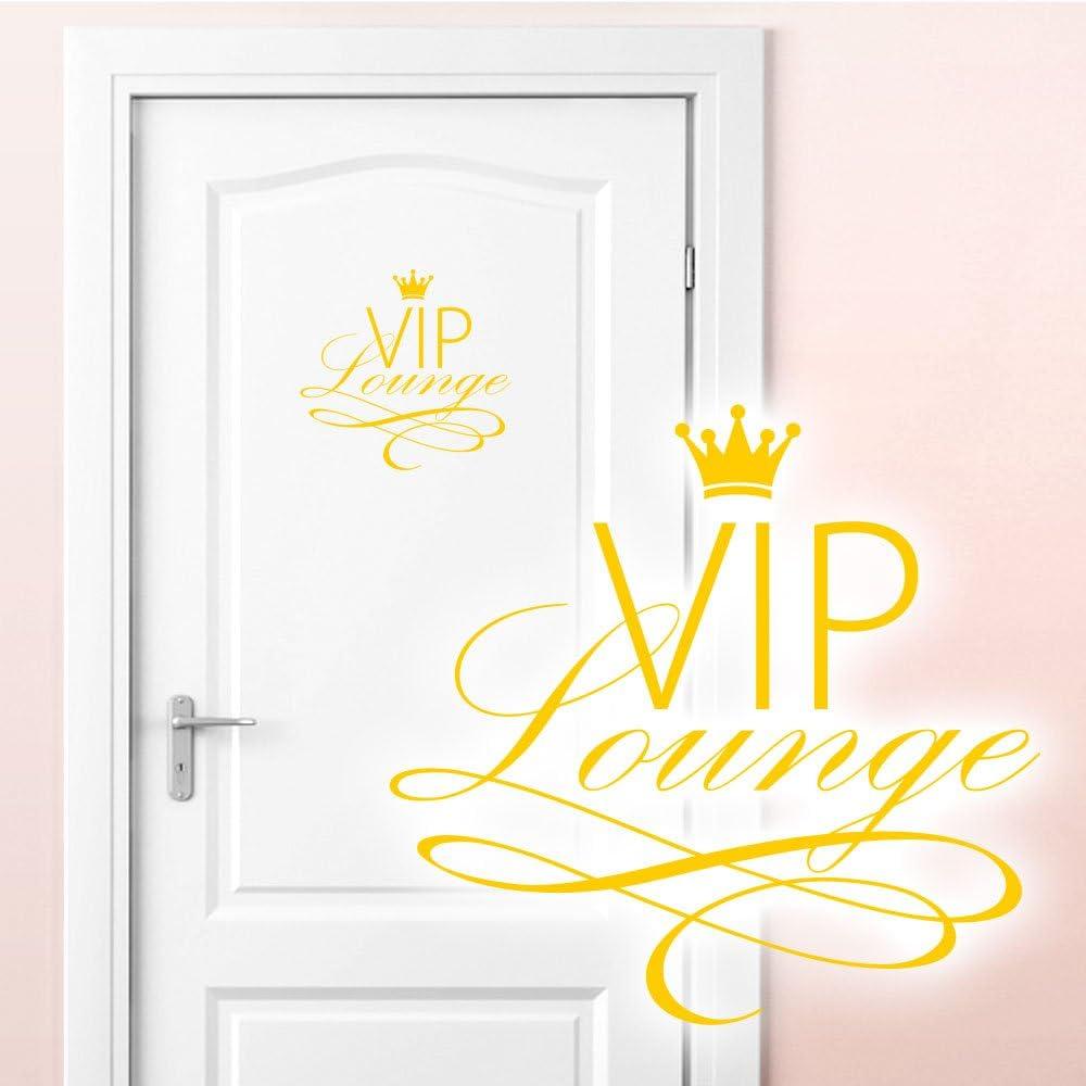 BxH Grandora Wandtattoo VIP Lounge I azurblau 19 x 18 cm I WC Badezimmer Toilette selbstklebend T/üraufkleber Aufkleber Wandaufkleber Wandsticker W5373