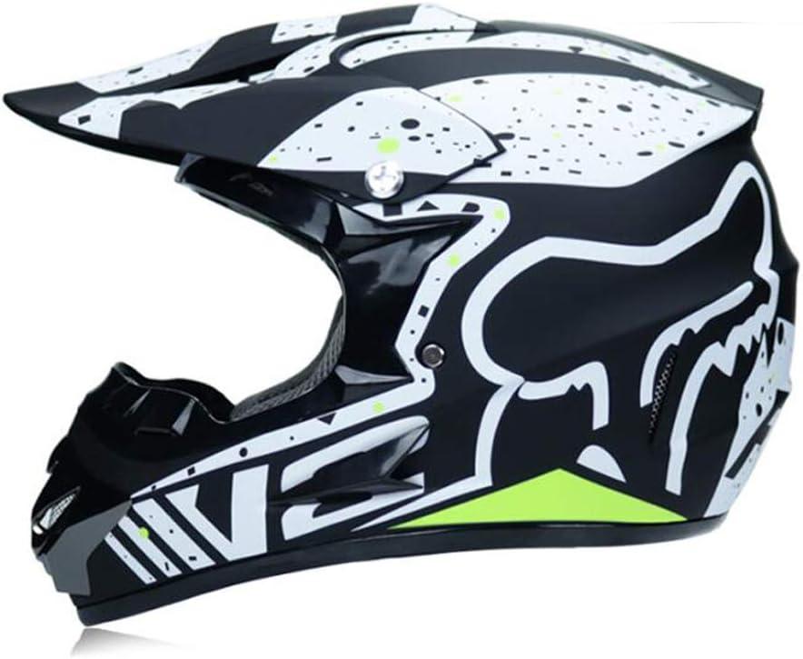 DQ-Walker Helm Motorrad Mountainbike-Helm Vollgesichts-Stra/ßenmotorradhelm Outdoor-W/üstenauto-Offroad-Helm f/ür Erwachsene M/änner und Frauen Offroad-Helm DOT-Zertifizierung BMX ATV MX