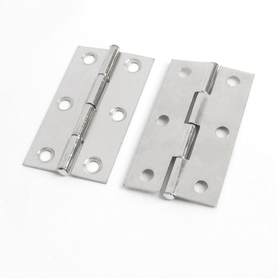 2,2 cm de Long et 2 Pcs Ton Argent M/étal Avocet Charni/ère pour portes de placard//tiroirs