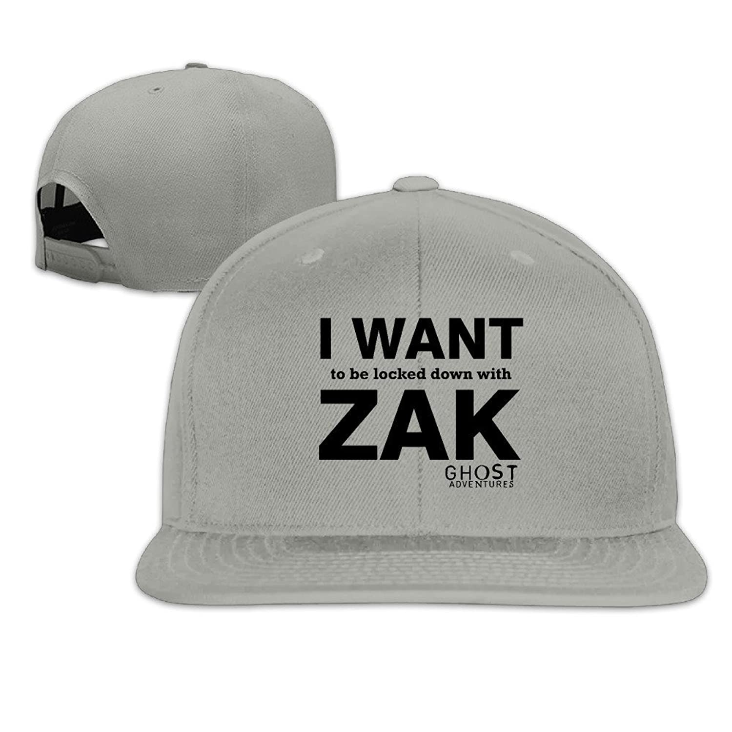 YP Men S Ghost Adventures Locked Down With Zak Flatbrim Baseball Cap Ash One Size at Amazon Mens Clothing store: