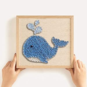 RM Studio DIY String Art Kit with Accessories and Frame for Kids Students Adults Beginners Home Wall Decorations Unique Gift (Whale)