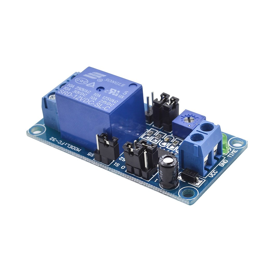 Dc 12v Delay Relay Board Turn On Off Switch Module With Thermostat Timer Circuit Electronic Projects