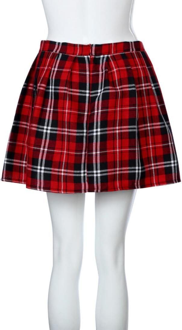 Faldas, Challeng chicas escocesas a cuadros de Escocia Falda ...
