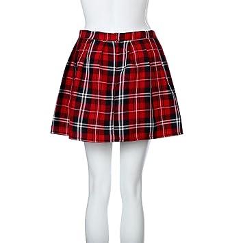 nuevo estilo a4131 63bff Faldas, Challeng chicas escocesas a cuadros de Escocia Falda ...