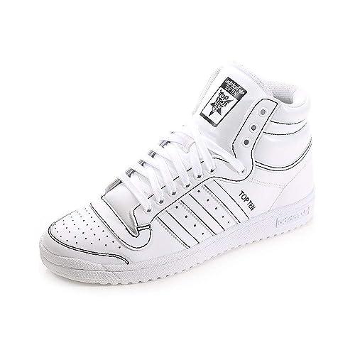 sports shoes ef558 b8293 adidas Mens Originals Mens Top Ten Hi Trainers in White - UK 6
