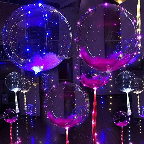 ElementDigital LED Balloon Light Up Transparent Balloons LED Multi Light for Christmas Birthday Cub Wedding and Party Battery 18 inch 10 pcs by ElementDigital (Image #6)