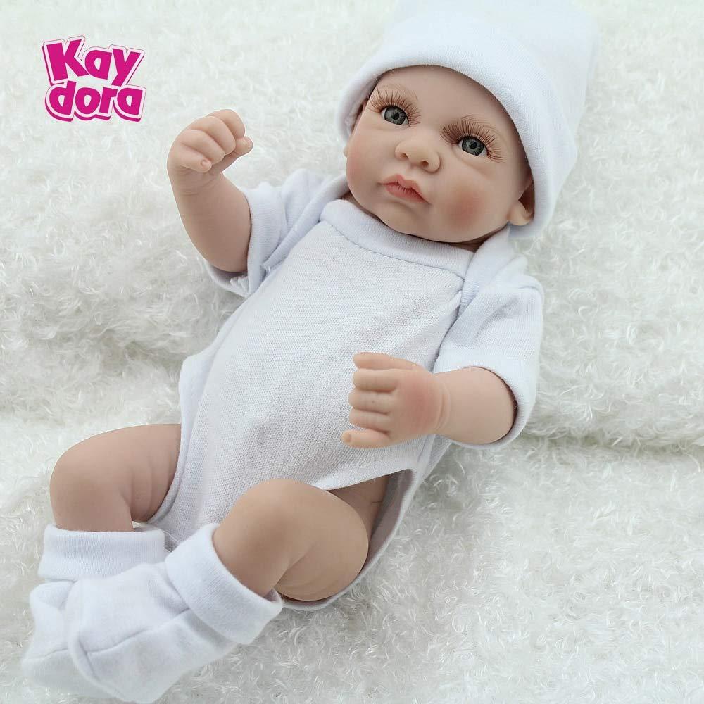 a967c8713796a Amazon.com  HiMom Dolls - inch 25cm Full Silicone Reborn Baby Dolls Alive  Lifelike Mini Real Dolls Realistic Reborn Babies Toys Bath Playmate Gift 1  PCs  ...