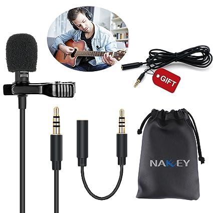 micrófono para Smartphone, adaptador de micrófono de condensador ...