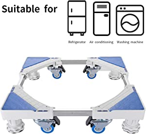 4 Wheels 4 Legs Size Adjustable Mobile Washing Machine Base with Telescopic Furniture Dolly Roller