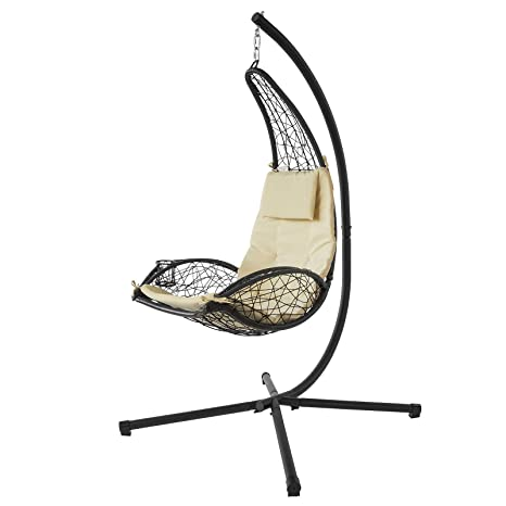 SoBuy®Mecedora Regulable con Cojines, sillón balancín jardín ...