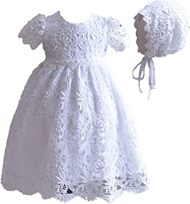 Cinda Baby 3 Piece White Lace Christening Gown Party Dress
