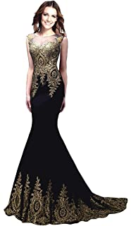 c6516be8f978b Rong store Rongstore Women`s Sleeveless Mermaid Evening Dresses Beaded Lace