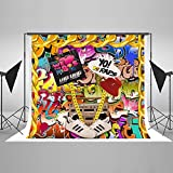 Kate 10ft(W) x6.5ft(H) 80th Photography Backdrops No Wrinkle Retro Style 80's Party Decoration Photo Booth Props