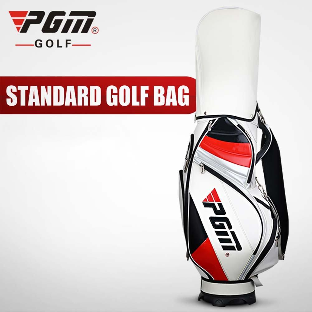 PGMゴルフスタンドバッグCarryバッグ – -- PUゴルフクラブバッグ、Can Holdクラブの完全なセット、5-ways Divider Top  ホワイト B0147VV362