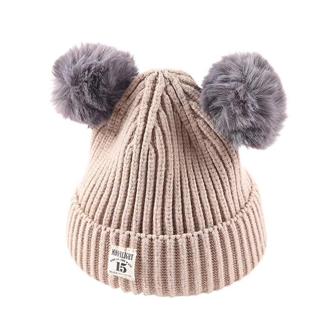 Baby Winter Warme Baskenmütze Wolle Schiebermütze Beanie Mützen Weich Cap Kappe