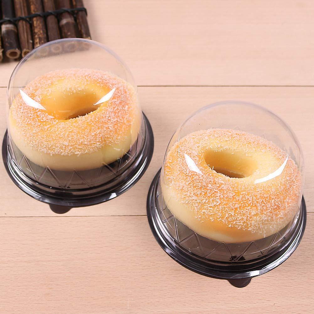FEOOWV 100Pcs Cake Box Cheese Round Dessert Boxs Mousse Cake Baking Packing Box