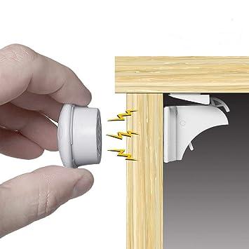 Magnetische Kindersicherung Schrankschloss 16 Magnetschlösser 3 Schlüssel Neu