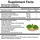 Glucosamine, Chondroitin, MSM, Turmeric, Boswellia and Collagen Complex - Joint Pain Relief Supplement - Best Anti-Inflammatory & Mobility Pills - 120 Capsule Value by Doctors Nutra