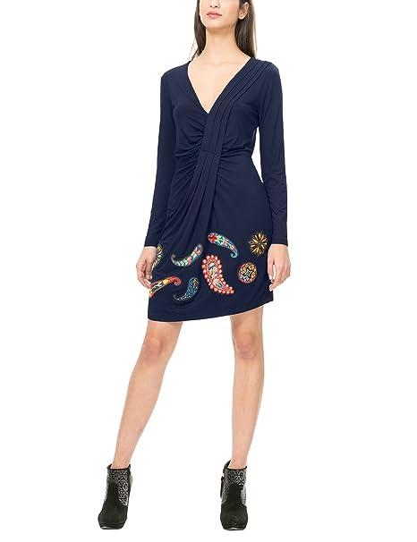 d368e9c9a2ed79 Desigual Vest_Paula, Vestito Donna: Amazon.it: Abbigliamento