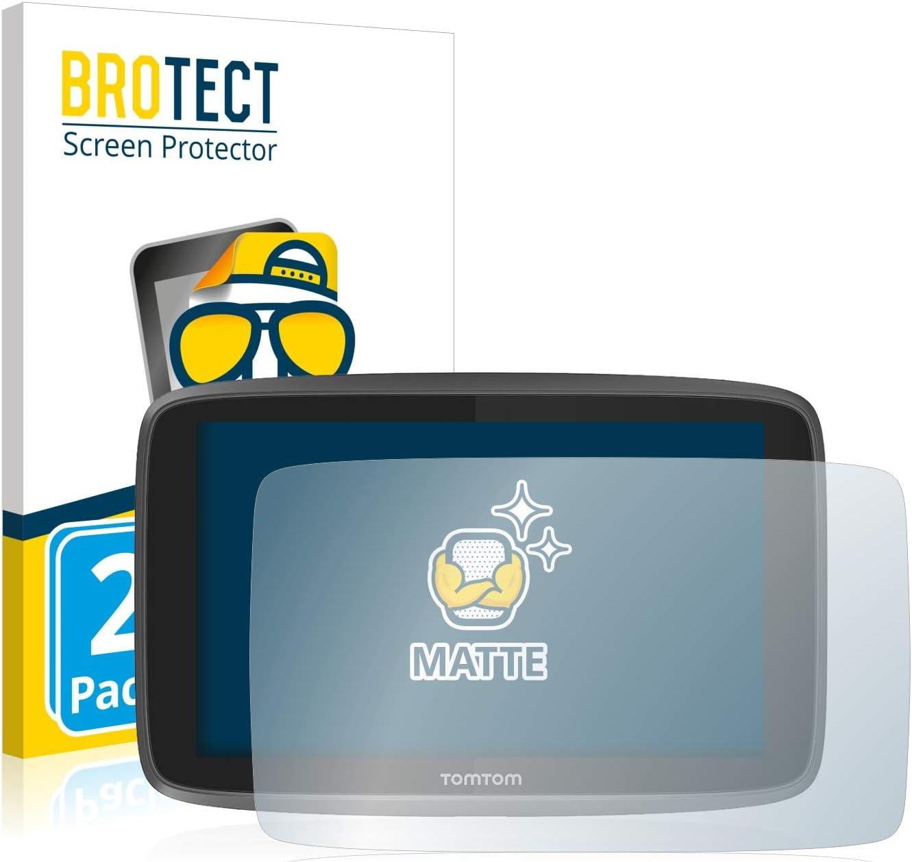 BROTECT Protector Pantalla Anti-Reflejos Compatible con Tomtom Go 6200 (2 Unidades) Pelicula Mate Anti-Huellas