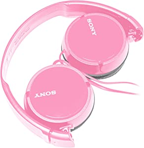 SONY Over Ear Best Stereo Extra Bass Portable Foldable Headphones Headset for Apple iPhone iPod/Samsung Galaxy / mp3 Player / 3.5mm Jack Plug Cell Phone (Rose)